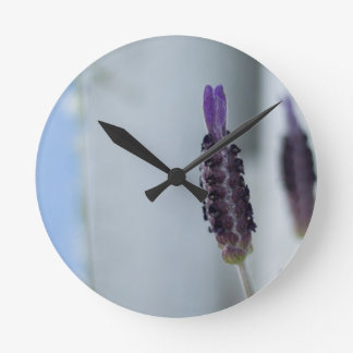 Lavender Print Clocks