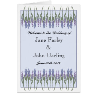 Lavender Program Card