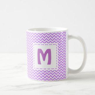 Lavender Purple Chevron Favorite Mug Monogrammed