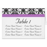 Lavender Purple Damask Black/White Greeting Cards