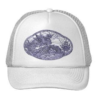 Lavender Purple Dragon Medallion Cap