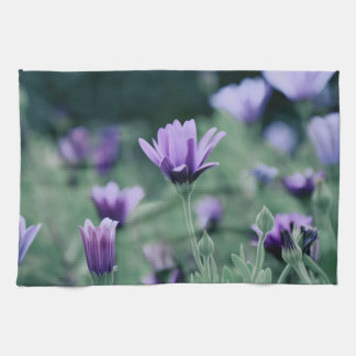 Lavender Purple Flower Tea Towel