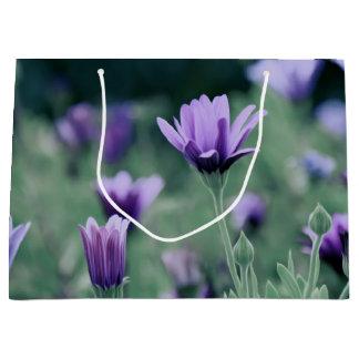 Lavender Purple Flowers Large Gift Bag
