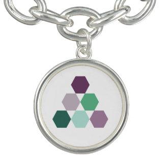 Lavender purple green mint geometric hexagons