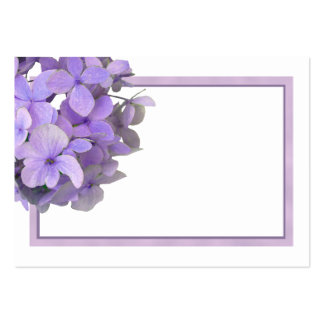 Lavender Purple Hydrangea Blank Place Cards Pack Of Chubby Business Cards