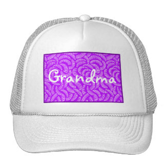 Lavender Purple Japanese Tropical Fans Trucker Hat