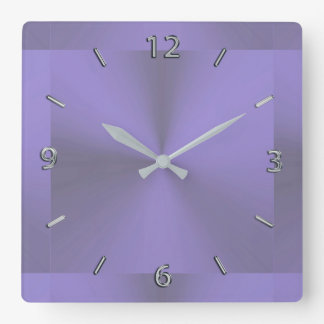 Lavender Purple Metallic Clock