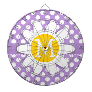 Lavender Purple Polka Dots Dartboard