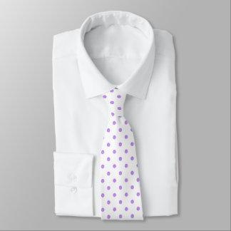 Lavender Purple Polkadots Pattern Tie