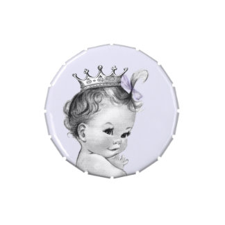Lavender Purple Princess Baby Shower Candy Candy Tins
