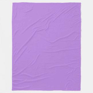 Lavender Purple Solid Colour Fleece Blanket