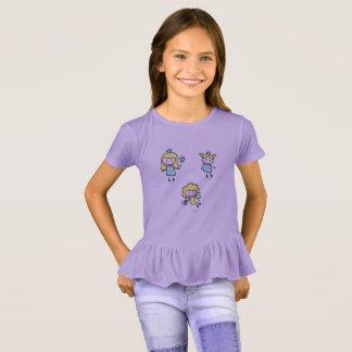 Lavender purple tshirt with Fairies