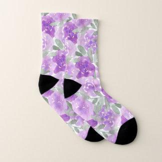 Lavender Purple Watercolor Floral Pattern 1