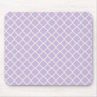 Lavender Quatrefoil Mouse Pad