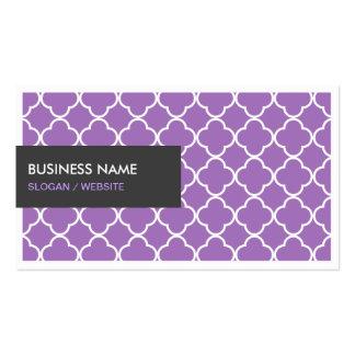 Lavender Quatrefoil Multi Purpose Business Card