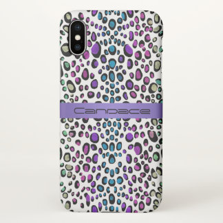 Lavender Rainbow Leopard Exotic Animal Print iPhone X Case