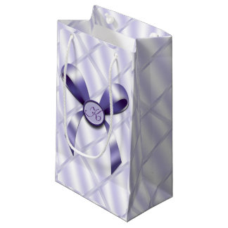 Lavender Reflection w/ Bow Monogram Small Small Gift Bag