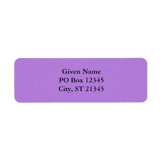 Lavender Return Address Label
