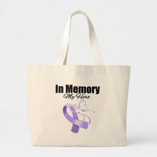 Lavender Ribbon In Memory of My Hero Canvas Bag