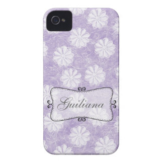 Lavender Rice Paper Floral iPhone 4 Cases