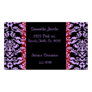 Lavender Rococo Elegant On Red Pack Of Standard Business Cards