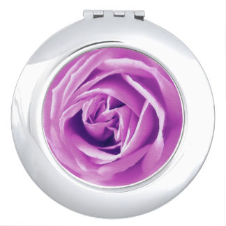 Lavender rose print compact mirrors