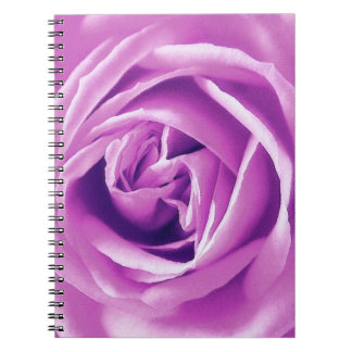 Lavender rose print notebook