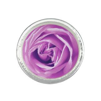 Lavender rose print photo rings