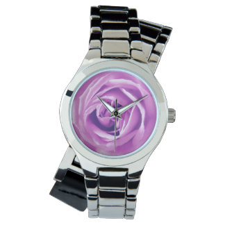 Lavender rose print watch