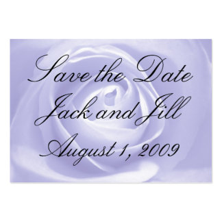 Lavender Rose, Save the Date Large Business Cards (Pack Of 100)
