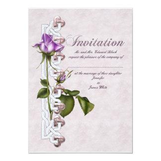 "Lavender Rose Wedding Suite 5"" X 7"" Invitation Card"