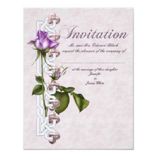 "Lavender Rose Wedding Suite 4.25"" X 5.5"" Invitation Card"
