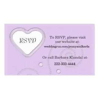 Lavender RSVP Card Pack Of Standard Business Cards