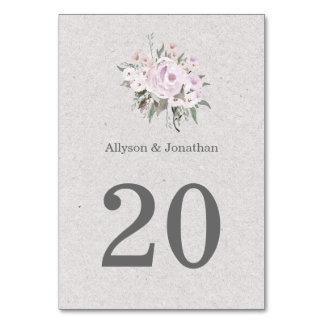 Lavender Sage Grey Green Table Cards  