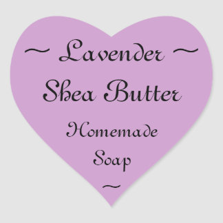 Lavender Shea Butter Soap Label
