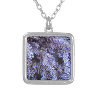 Lavender Silver Plated Necklace