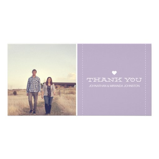 Lavender Simply Chic Photo Wedding Thank You Cards Photo Cards