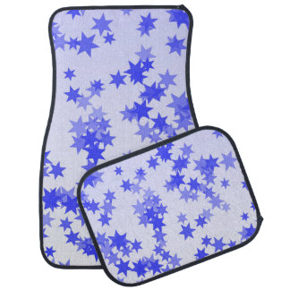 Lavender Stars Car and Truck Mats