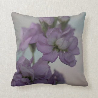 Lavender stock flowers throw pillow