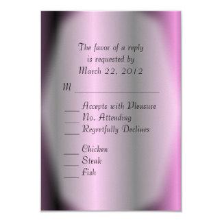 Lavender Stripe Wedding 9 Cm X 13 Cm Invitation Card