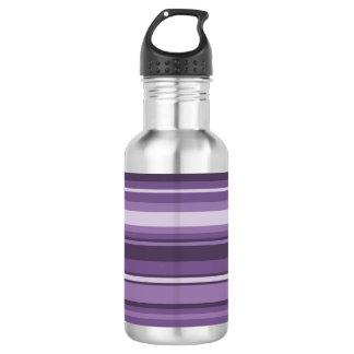 Lavender stripes 532 ml water bottle