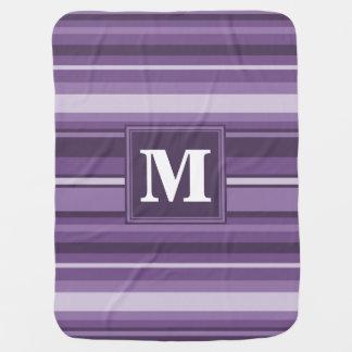 Lavender stripes buggy blanket