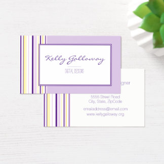 Lavender Stripes Business Cards