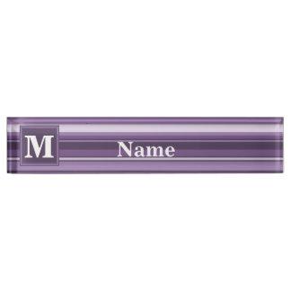 Lavender stripes nameplates