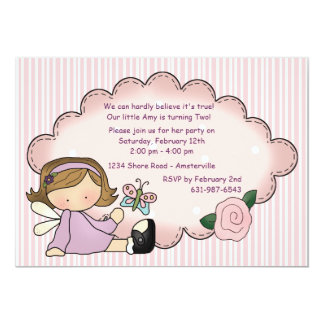 Lavender Sweetie Birthday Party Invitation