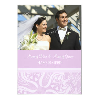Lavender Swirls Photo Elopement Announcement Cards