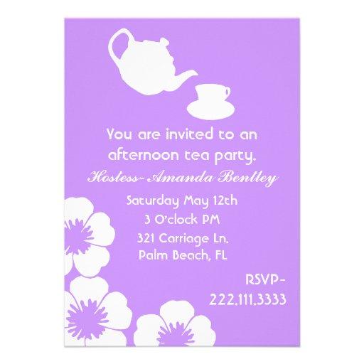 Lavender Tea Party Invitation