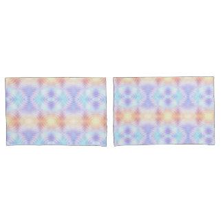Lavender Teal Yellow Melon Geometric Pillowcase