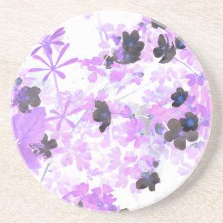 Lavender Thimble Weed Coaster