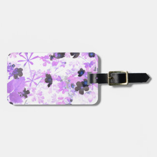 Lavender Thimble Weed Luggage Tag